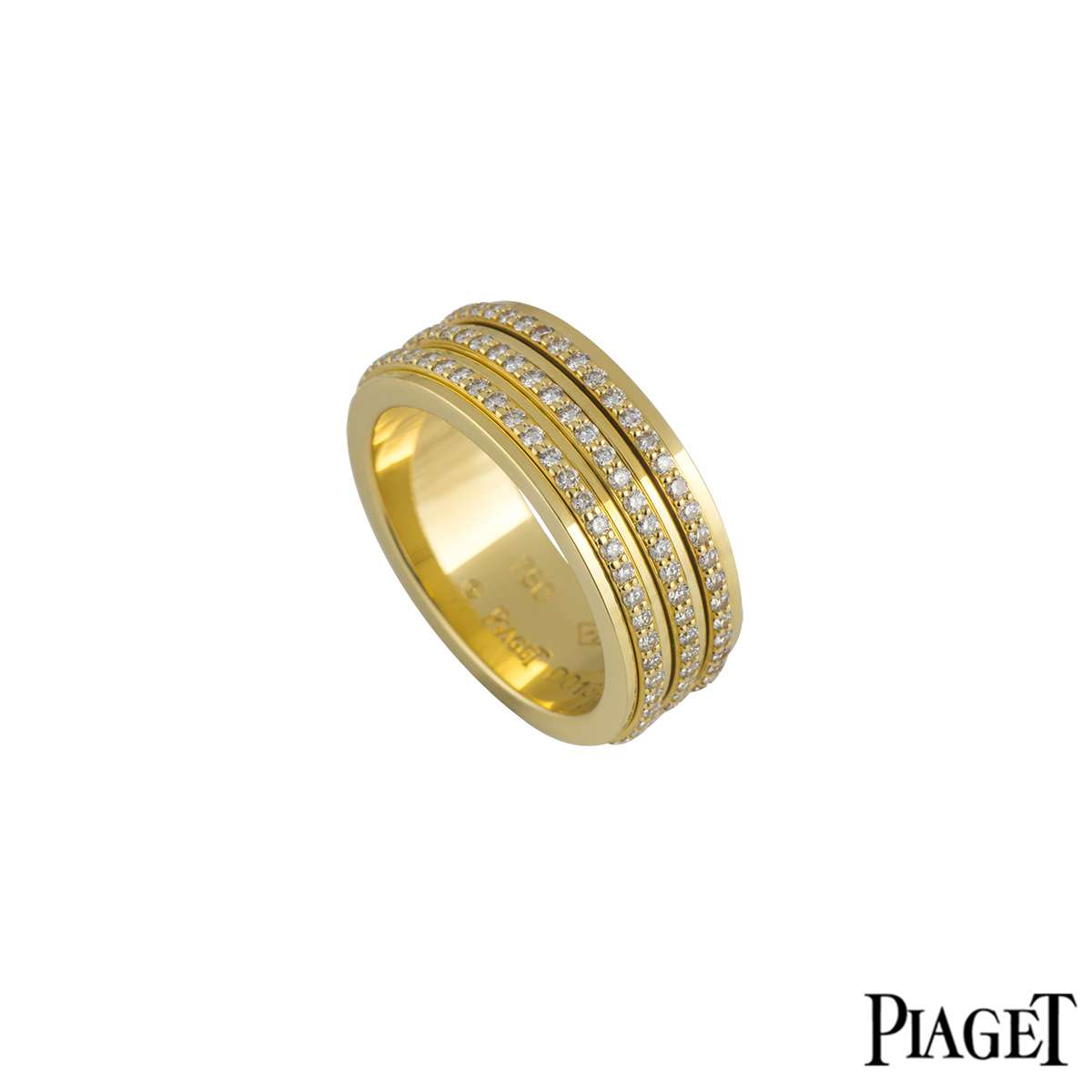 Piaget 18k Yellow Gold Diamond Set Possession Ring 1.40ct G34PO556